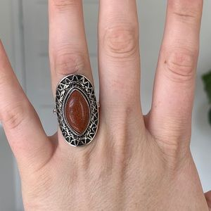 Goldstone 925 Sterling Silver Ring
